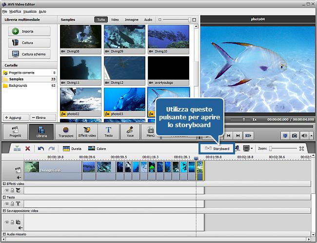 Come creare una presentazione usando AVS Video Editor? Passo 1
