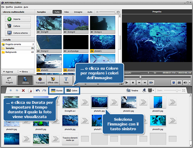 Come creare una presentazione usando AVS Video Editor? Step 1
