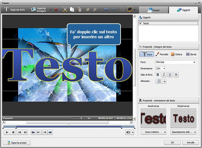 Come creare una presentazione usando AVS Video Editor? Passo 3