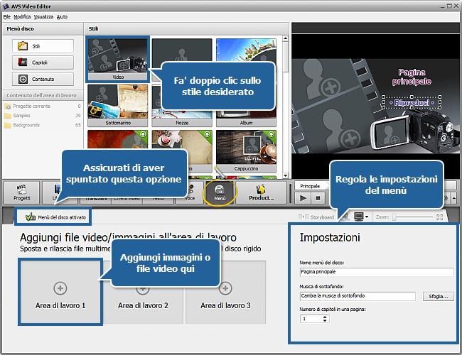Come creare una presentazione usando AVS Video Editor? Passo 5