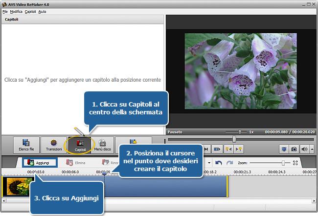 Come creare un menù disco usando AVS Video ReMaker? Passo 4