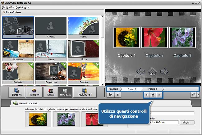 Come creare un menù disco usando AVS Video ReMaker? Passo 5