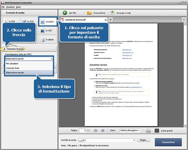Come convertire da PDF a DOCX? Passo 3