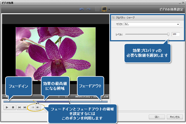 AVS Video Editor でぼやけた動画を復元する方法。ステップ 3