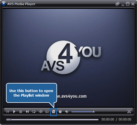 How to playback video files using AVS Media Player? Step 3
